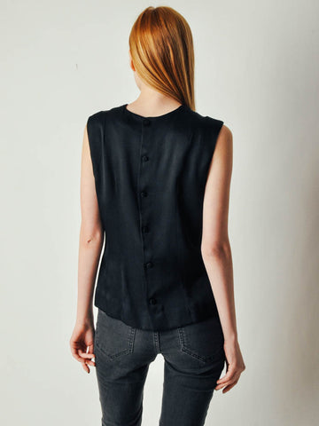 Vintage Black Beaded Blouse