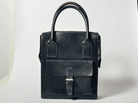 Vintage Black Gap Leather Box Bag