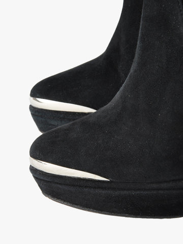 Opening Ceremony Black Metal Tipped Ankle Boots