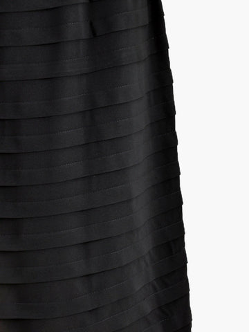 Vintage Allover Pleated Black Dress