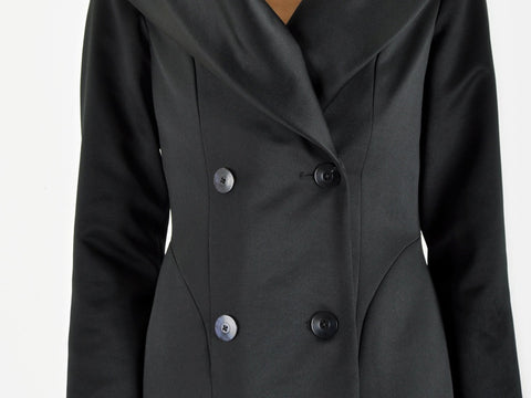 Black Jacket with Huge Collar