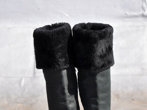Kallistè Shearling Over the Knee Boots