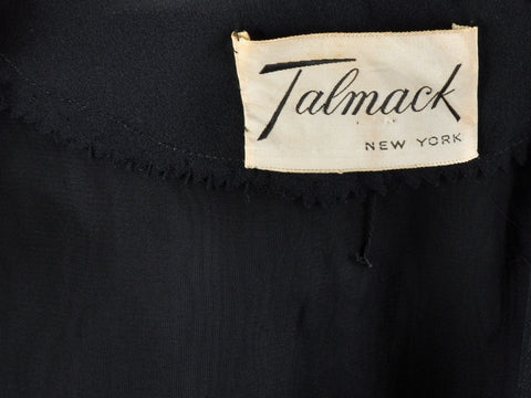 Vintage Black Talmack New York Dress