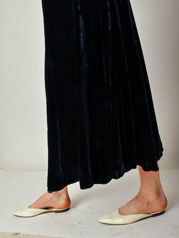 Vintage Black Rich Velvet Skirt
