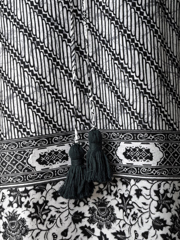Vintage Black & White Ethnic Tunic