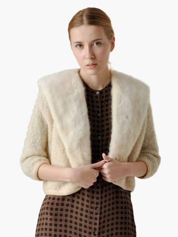 Vintage 1950s Mink Fur Sweater