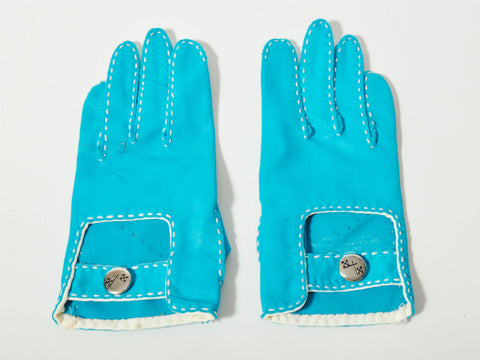 Vintage Blue Stretchy Gloves