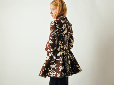 Vintage Floral Mod Full Skirt Coat