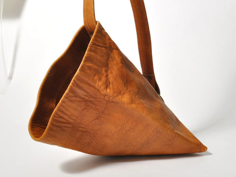 Brown Sak Bag w/ Metal Ring Top
