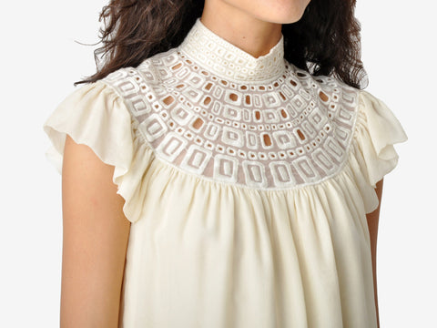 Catherine Malandrino Lace Collar Blouse