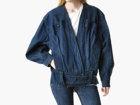 Vintage 80s Claude Montana Denim Jacket