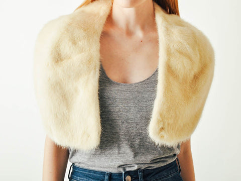 Vintage Blonde Mink Fur Collar