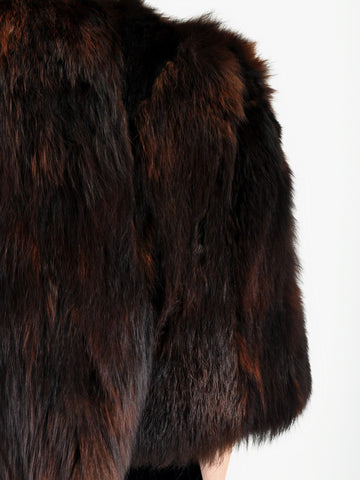 Vintage 1940s Art Deco FOX FUR Chubby Cape