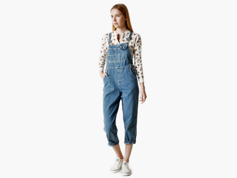 Vintage Blue Denim Overalls