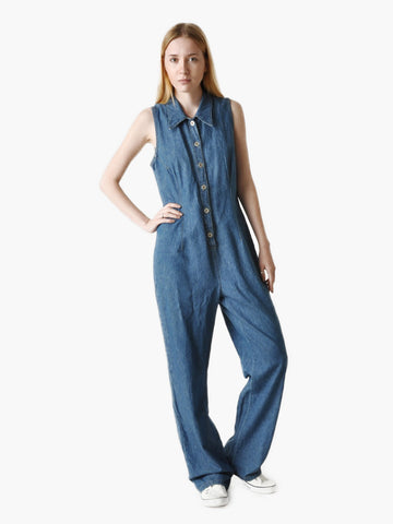 Vintage Blue Denim Jumpsuit
