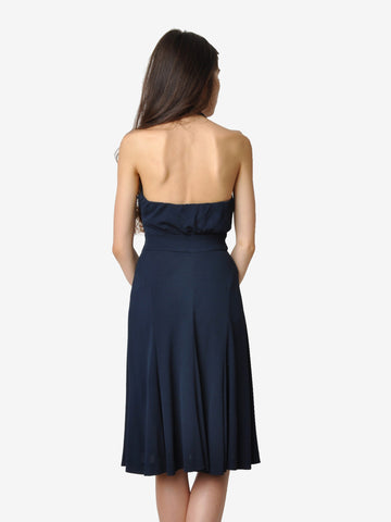 Diane von Furstenberg Navy Halter Dress