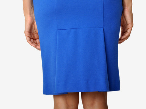 Diane Von Furstenberg Blue Knit Pencil Skirt