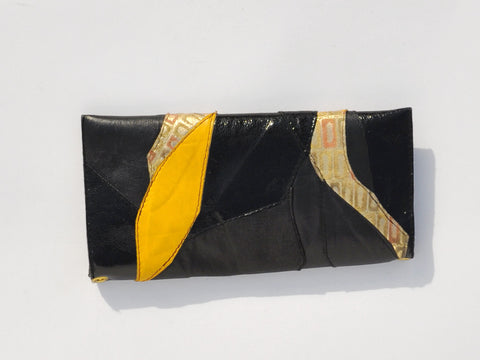 Black Patchwork Clutch