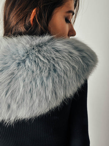 Vintage Blue Fox Fur Collar
