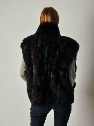 Vintage Brown Fur Gilet Vest