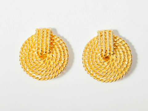Vintage Gold Rope Earrings