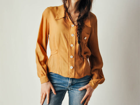 30s Light Brown Blouse