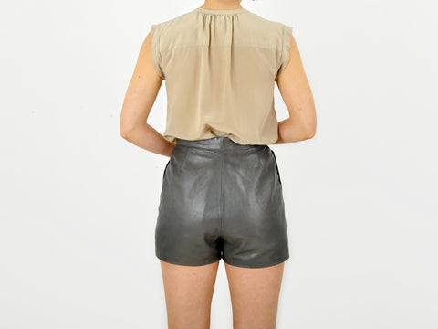 Vintage LAMB LEATHER Gray Shorts
