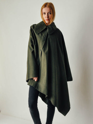 Vintage Asymmetrical Military Cape
