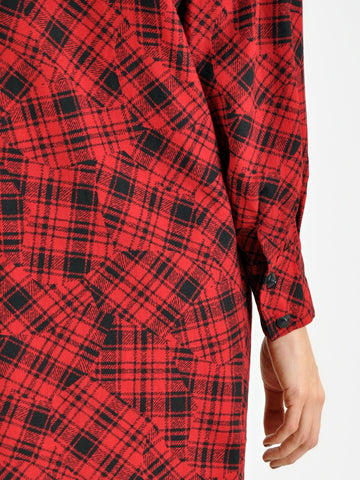 Vintage Guy Laroche Red and Black Plaid Dress