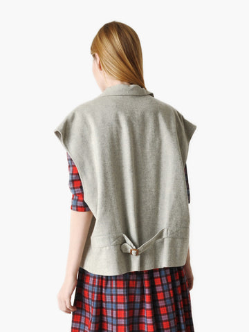 Vintage Boxy Heather Grey Vest