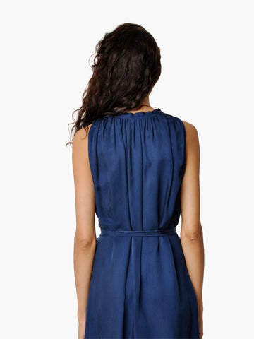 L'Agence Navy Ruffled Dress