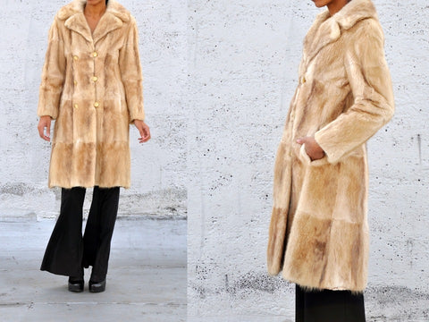 vintage long blonde FUR COAT