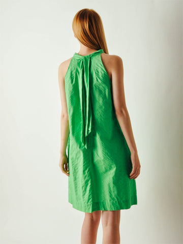 Vintage Lime Green Cotton Dress