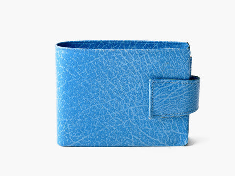 Vintage Bright Blue Leather Wallet
