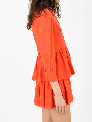 Tangerine Button Down Dress