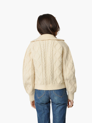 Vintage Cable Knit Motorcycle Sweater