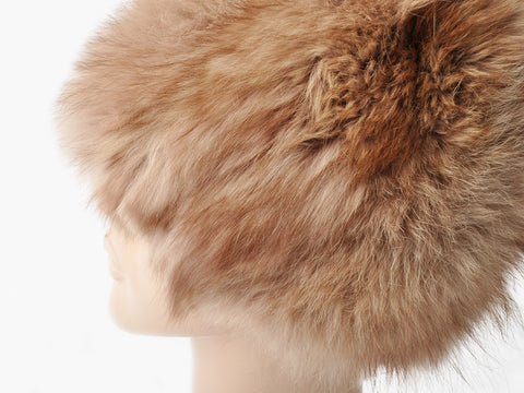 Vintage Mauve Fox Fur Hat