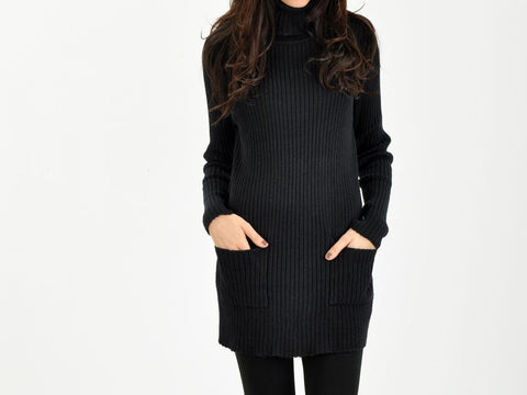 Vintage Navy Mod Turtleneck