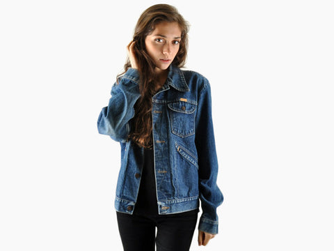 Vintage Heavy Denim Rustler Jacket