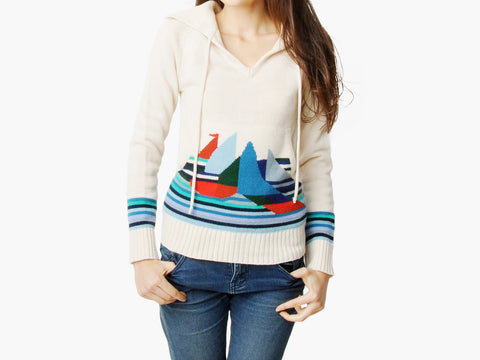 Vintage Knit Sailboat Sweater Top