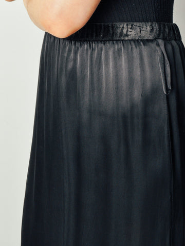 Maison Martin Margiela Long Satin Skirt