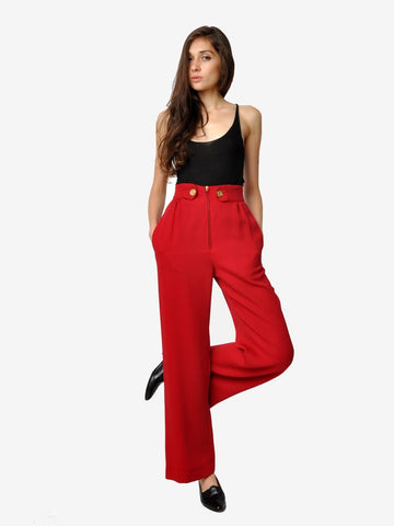 Cherry Red Cheap and Chic by Moschino Pants