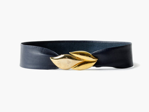 Vintage Navy Belt with Petal Clasp