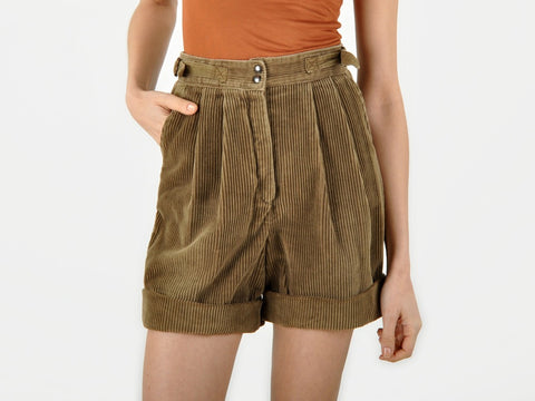 Vintage Pierre d'Alby Brown Corduroy Shorts