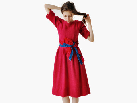 Vintage Belted Party Dress