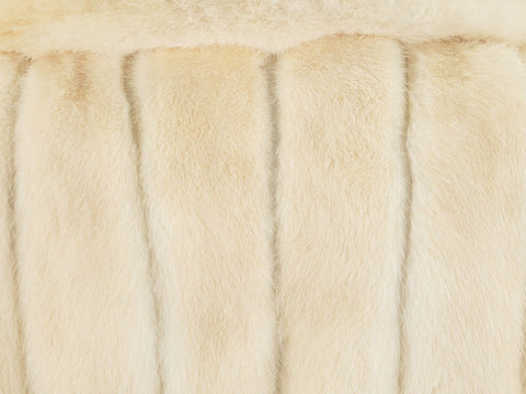 Vintage Platinum Mink Fur and Leather Coat