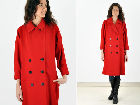 Vintage Red double breasted Coat