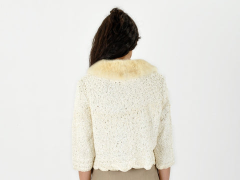 Vintage 50s-60s Ribbon Lace Jacket