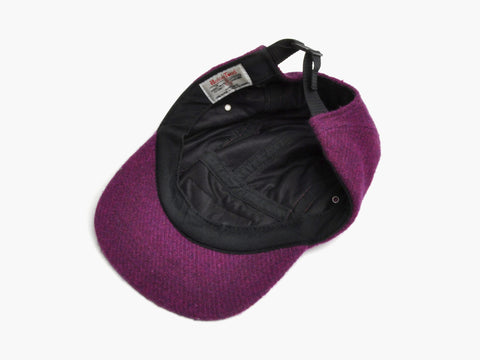Supreme Purple Harris Tweed Baseball Cap