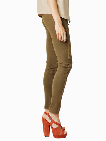 Surface To Air Army Green Suede Cross Leggings